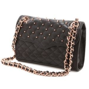 Rebecca Minkoff Studded Quilted Affair Rose Gold